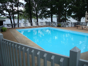 Outdoor pool at Mallard Point Resort.