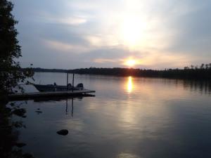 Lake view at Northern Lights Lodge & Resort.