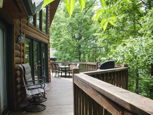 Deck view at Hideaway Haven.