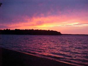 Beautiful Lake Sunset at Evergreen Lodge
