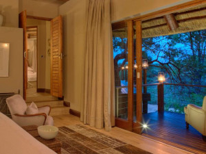 Guest room at Ngala Game Lodge.