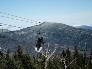 Ski lift near Town Square Condominiums.