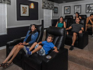Rental theater at Tropical Escape Vacation Homes.
