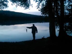 Fishing at Solbakken Resort.