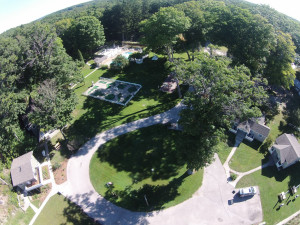 Aerial view of Michillinda Beach Lodge.