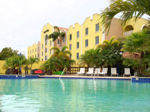 Exterior view of Brickell Bay Beach Club Aruba.
