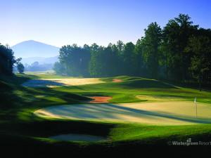 Golf green at Wintergreen Resort.