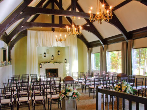 Wedding ceremony at The Grove Park Inn Resort & Spa.