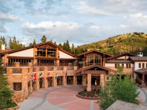 Exterior view of Stein Eriksen Lodge.