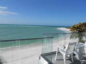 Beach view at Anna Maria Vacations.