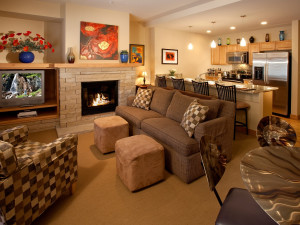Condo living room at Edelweiss Lodge.