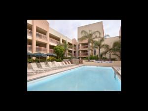 Outdoor pool at Ramada Plaza LAX El Segundo.