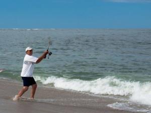 Fishing at Beach Realty.
