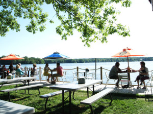Picnic area at Edinboro Lake Resort.