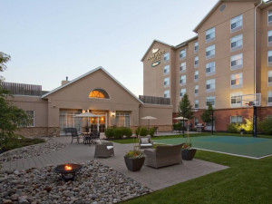 Exterior view of Homewood Suites by Hilton Cambridge Waterloo Ontario.