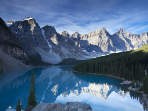 Moraine Lake a Scenic day trip near Delta Banff Royal Canadian Lodge.