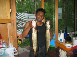 Fishing at Kramer Pond Lodge.