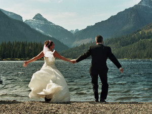 Wedding at Izaak Walton Inn.