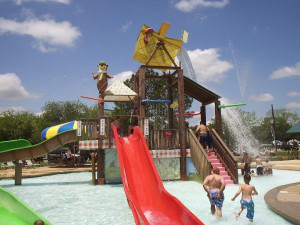 Kid's water park at Lone Star Yogi.