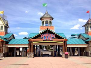 Entrance to amusement park at Darien Lake Resort.