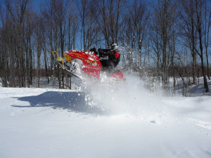 Snowmobiling at The Timbers Resort.