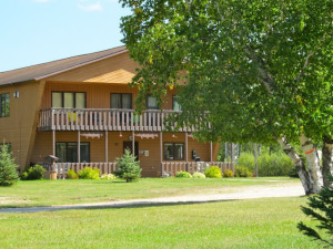 The lodge at Angle Outpost Resort & Conference Center.