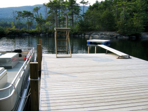 Dock at Rockywold-Deephaven Camps.