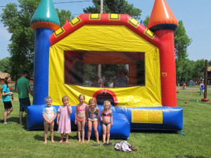 Bounce castle at Appeldoorn's Sunset Bay Resort.