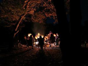 Campfires at Cherry Beach Resort.