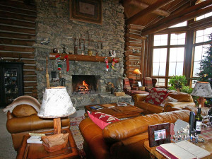 Lounge at Wildberry Lodge.
