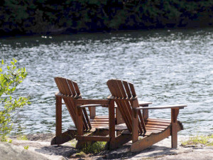 Relax by the lake at Sherwood Inn.