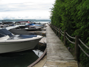Boats at Glen Craft Marina and Resort.