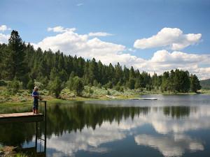 Fishing at Aspen Ridge Resort.