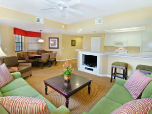 Guest living room at Holiday Inn Club Vacations at Orange Lake Resort.