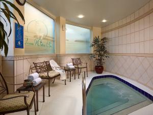 Spa pool at Plaza Resort & Spa.