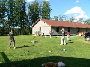 Family at Lost Lake Lodge.