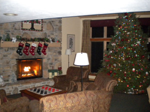 Christmas at Waterbury Inn Condominium Resort.