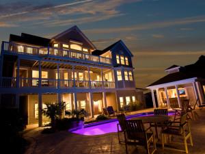 Rental exterior at Pirates Cove Vacation Rentals.