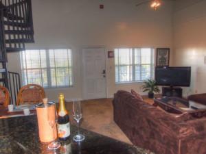 Rental living room at SkyRun Vacation Rentals - Destin, Florida.