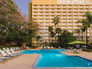 Outdoor pool at DoubleTree by Hilton Hotel Los Angeles - Westside.