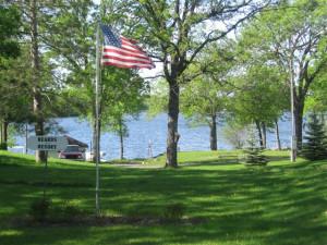 Lake view at Beard's Resort.