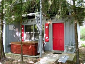 Cabin exterior at Timberloft Cabin Rentals.