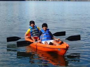 Canoeing at Dickerson's Lake Florida Resort.