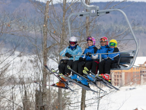 Ski lift at Greek Peak Mountain Resort.