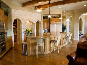 Rental kitchen at Hill Country Premier Lodging.