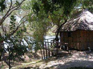 Chalet exterior at Kabula Lodge.