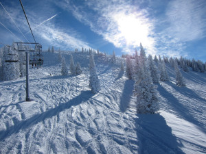 Skiing at SkyRun Vacation Rentals - Steamboat Springs, Colorado.