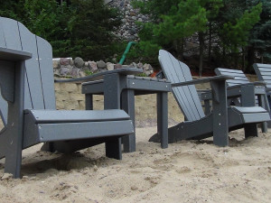 Beach chairs at Cliffside Resort.