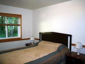 Vacation rental bedroom at Mt. Baker Lodging.