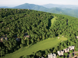 Arial golf view at Wintergreen Resort.